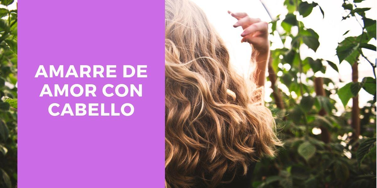amarre con cabello